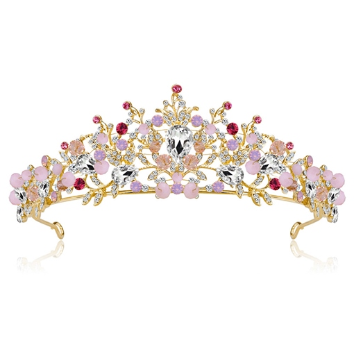 Floral European Rhinestone Wedding Tiara