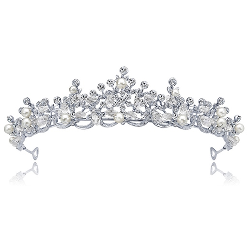European Pearls Alloy Wedding Tiara
