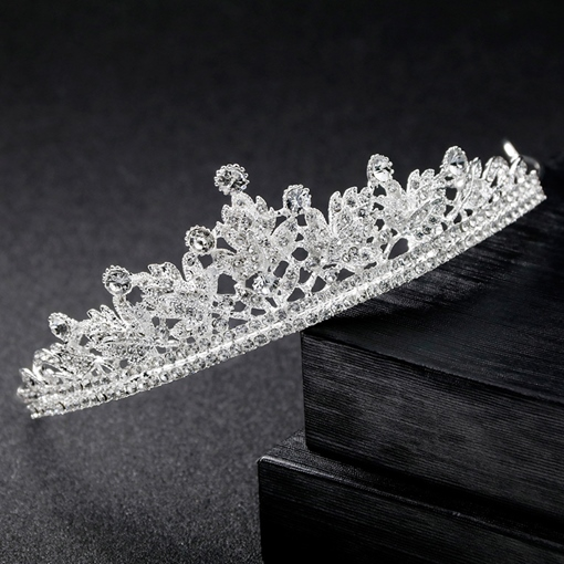 Shiny Rhinestone Gemmed Wedding Hair Tiara