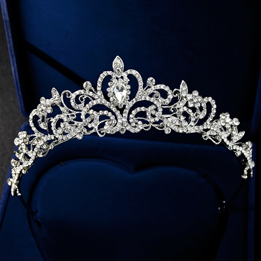 Rhinestone Gemmed Wedding Hair Tiara