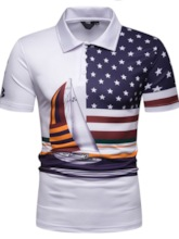 Casual Stripe Print Men's Polo Shirt