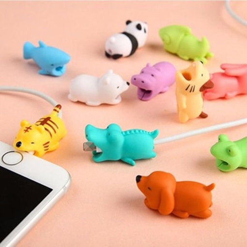 Lion Shape 5 Style Choice Cable Bite Protector