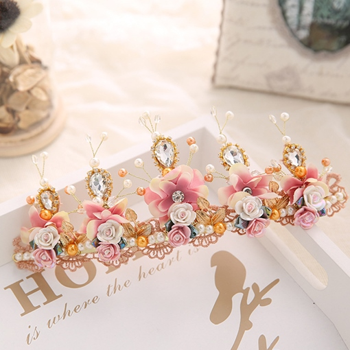European Floral Tiara Hair Accessories (Wedding)