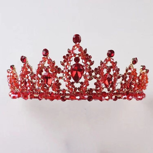 Shiny Gemmed Tiara Crown Hair Accessories (Wedding)