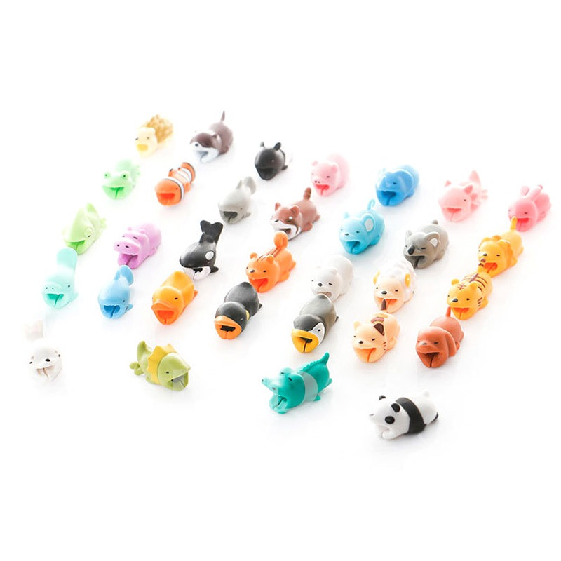 Cute Animal Bites Cable Protector Charging Cables Cords