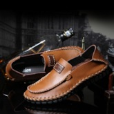 Sewing Round Toe Comfy Men's Loafers