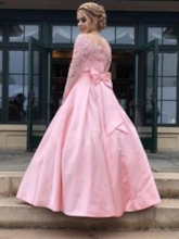 Floor-Length Ball Gown Off-The-Shoulder Appliques Formal Dress 2019
