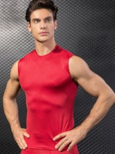 Solid Sleeveless Men's Quick Dry Tops