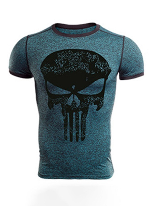 Print Short Sleeve Men's Outdoor Sport Quick Dry Tank Top