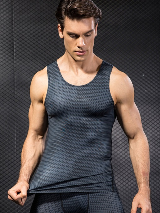 Polyester Breathable Sleeveless Sports Men's Tee Tank Top Vest