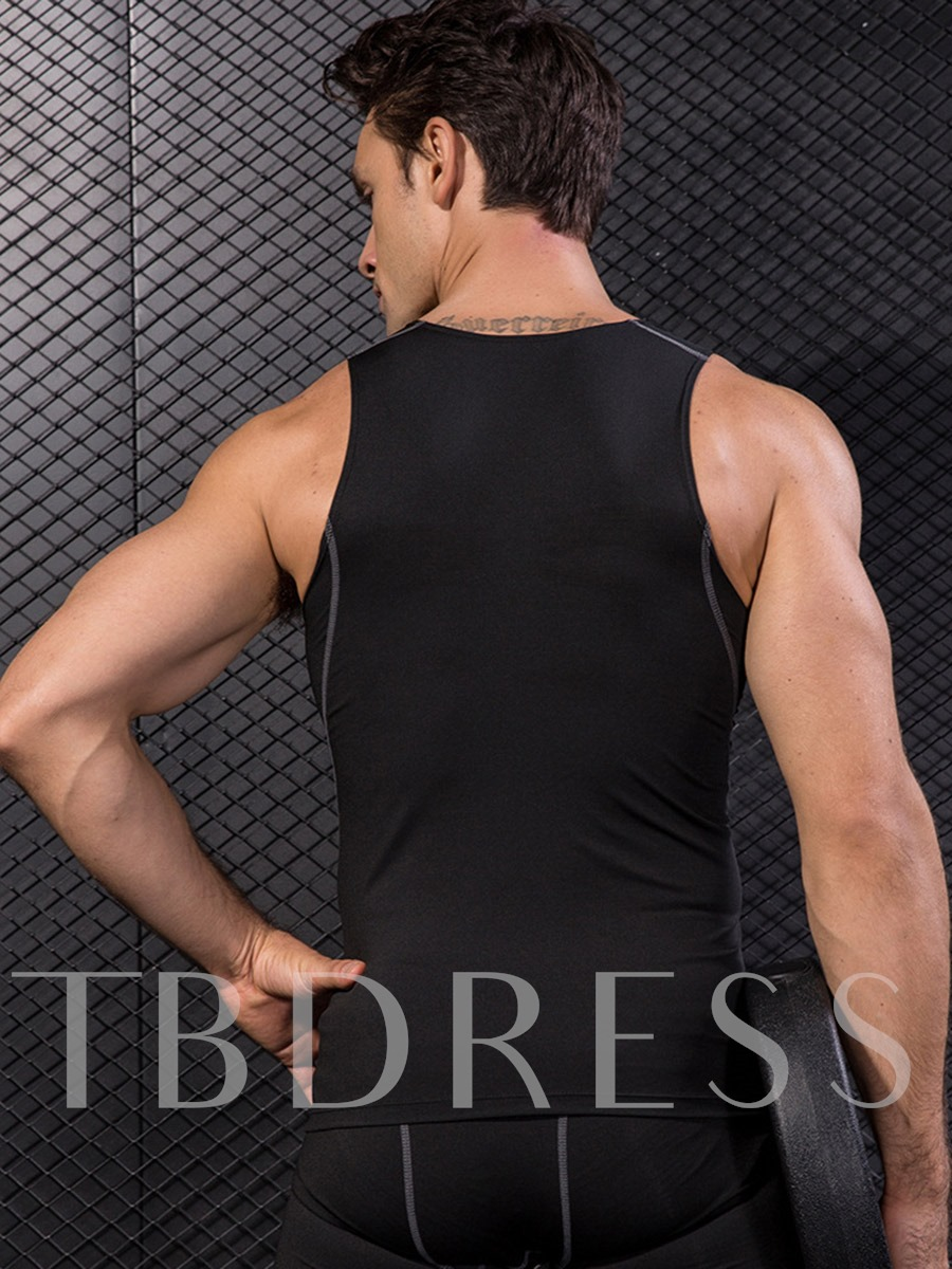 Polyester Quick Dry Pullover Men's Sleeveless Tops