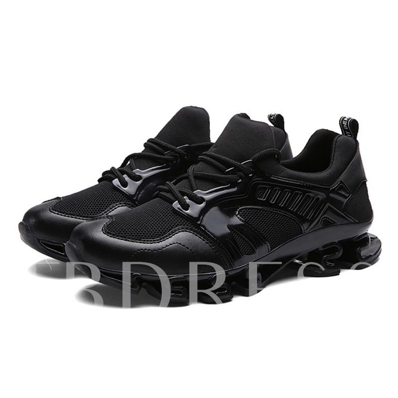 Lace-Up Low-Cut Upper Mesh Profession Men's Sneakers