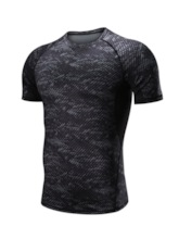 Print Quick Dry Breathable Men's Workout Top