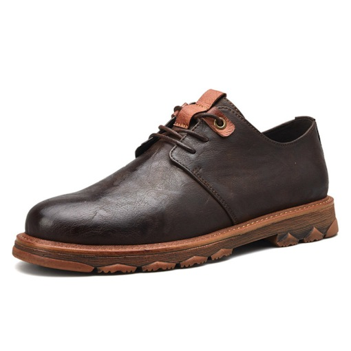 Low-Cut Upper Round Toe Thread Comfy Men's PU Leather Shoes