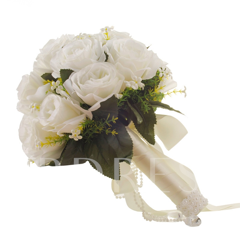 Rose Satin Wedding Bouquet