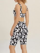 Women's Print Color Block Two Piece Outfit Casual Set