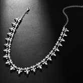 Necklace Earrings European Floral Wedding Jewelry Sets