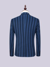 Stripe Single-Breasted Blazer Men's Dress Suit