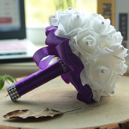 European PVC Rose Wedding Decorating Flowers