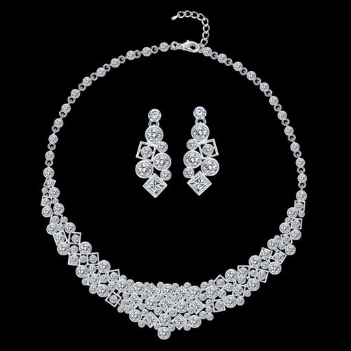 Necklace Spherical E-Plating Jewelry Sets (Wedding)