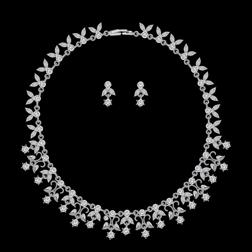 Water Drop E-Plating Necklace Jewelry Sets (Wedding)