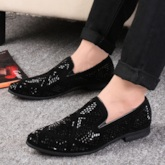 Embossed Leather Low-Cut Upper Men's Prom Shoes