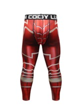 Print Compression Dry Cool Sports Tights Men's Pants