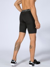 Letter Tight Sports Compression Shorts
