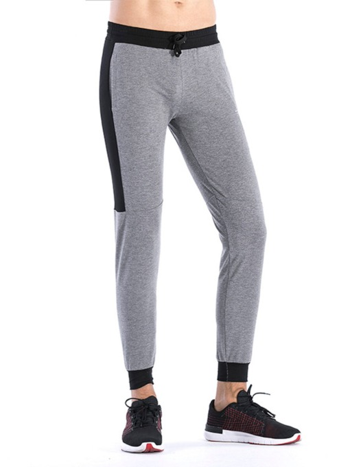 Men's Patchwork Running Tights Quick Drying Casual Sports Trousers