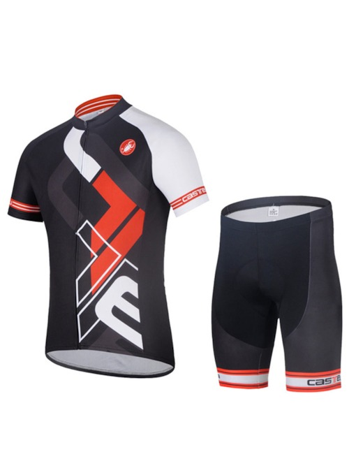 Men's Short Sleeve Quick-Dry Breathable Print Cycling Set