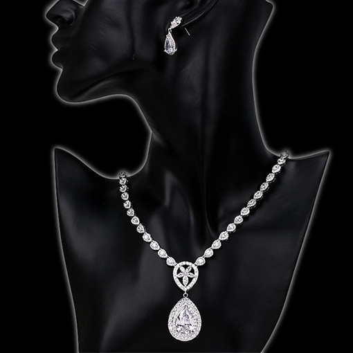 European Gemmed Water Drop Jewelry Sets (Wedding)
