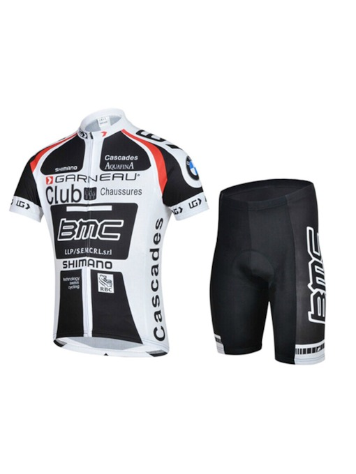 Men's Letter Cycling Jersey Set Bicycle Short Sleeve Set