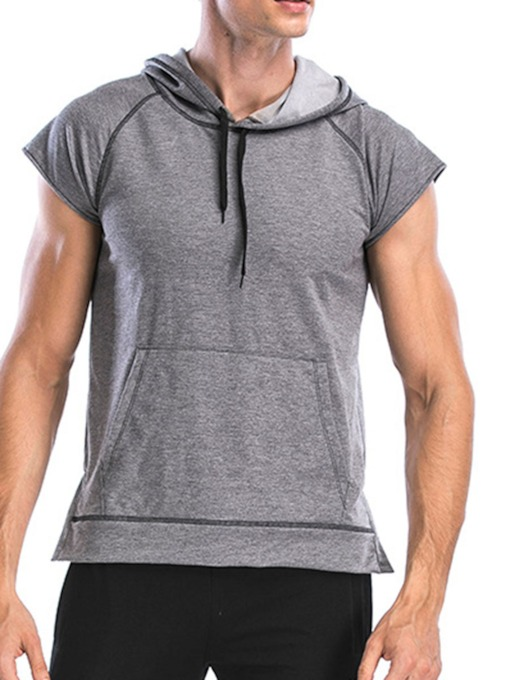 Breathable Thin Hooded Short Sleeve Sports Men's T-shirt