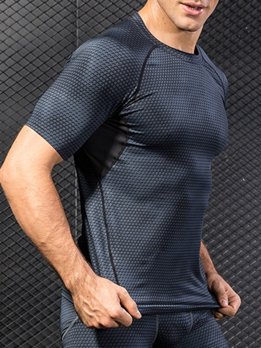 3D Print Short Sleeve Quick Dry Tight Compression Sports T-shirt