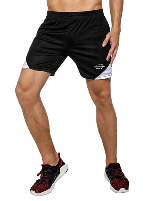 Color Block Outdoor Sports Men's Shorts