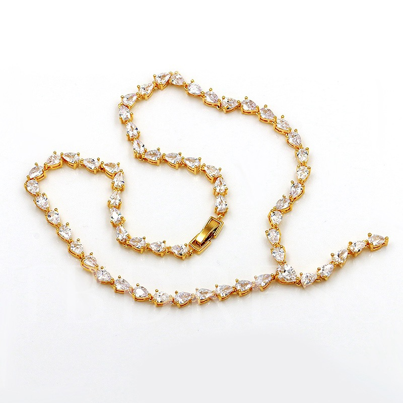 European Necklace Water Drop Jewelry Sets (Wedding)