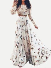 Print Skirt Floral Bohemian Expansion Women's Two Piece Sets
