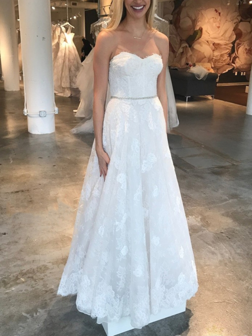 Lace Appliques Sweetheart Beading Wedding Dress 2019
