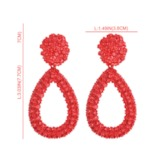 Shiny Water Drop Shape Alloy Party Earrings