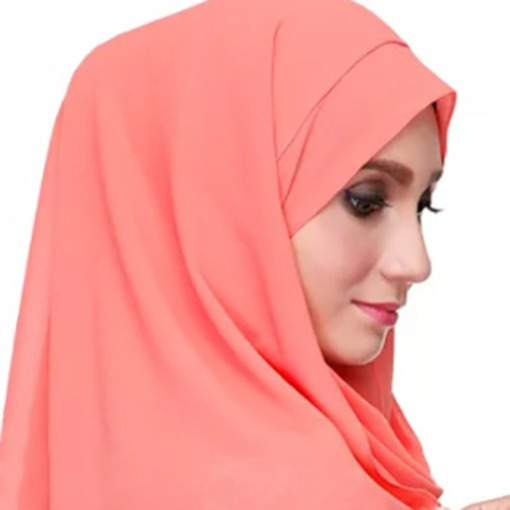 Solid Color Soft Chiffon Muslim Scarf