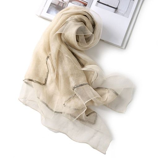 Fashion Pure Color Soft Breathable Chiffon Scarf