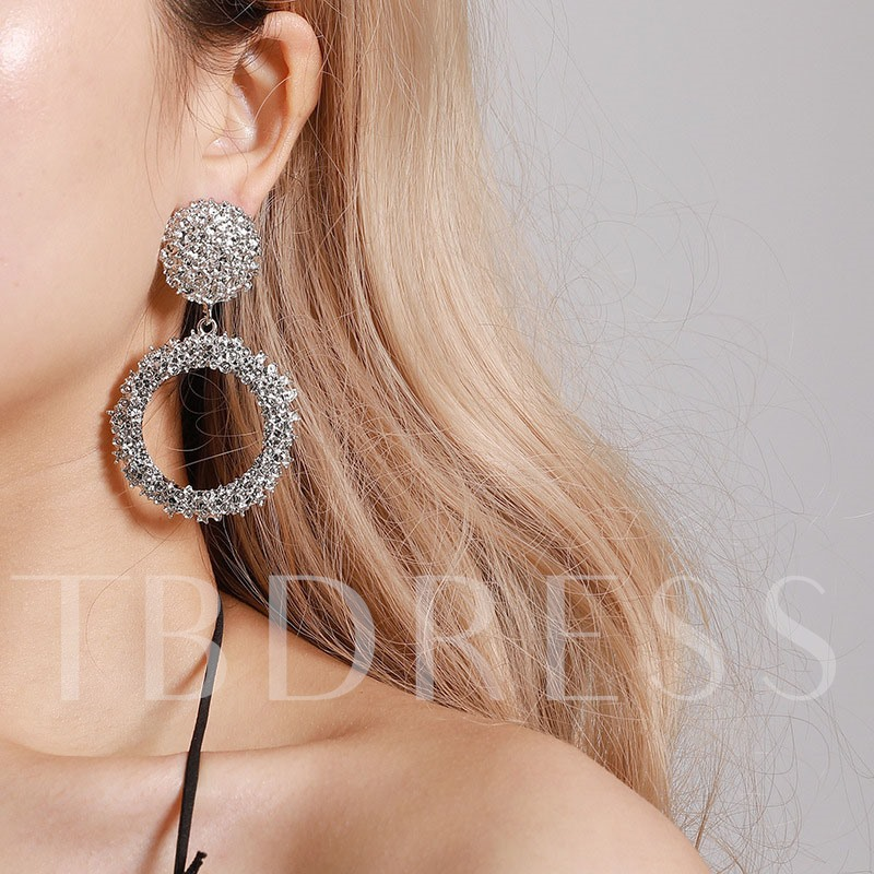 Shiny Gold Color E-Plating Prom Alloy Earrings