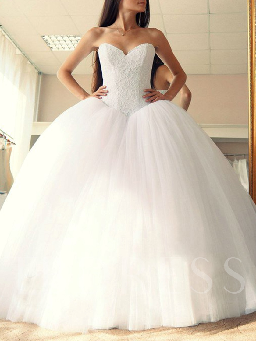 Sashes Ball Gown Lace Top Wedding Dress 2019 Tbdresscom