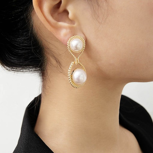 Double-Sided Imitation Pearl Lady Ear Cuffs