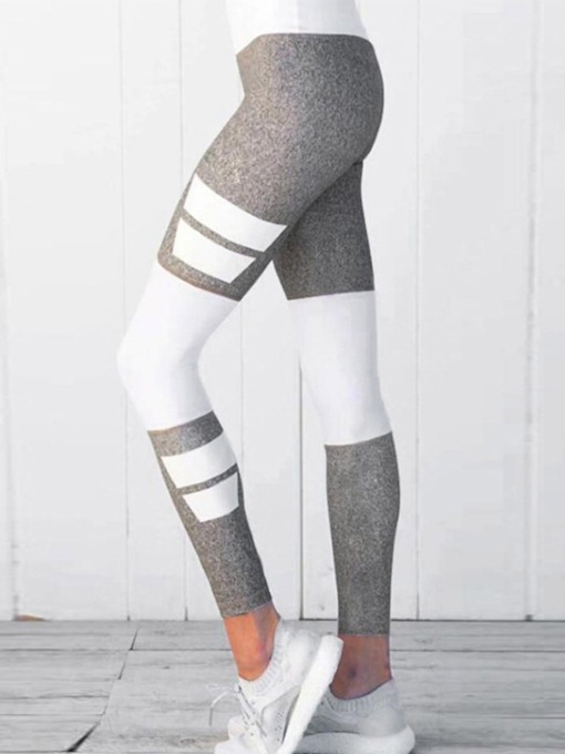 Color Block Sports Casual Women's Leggings