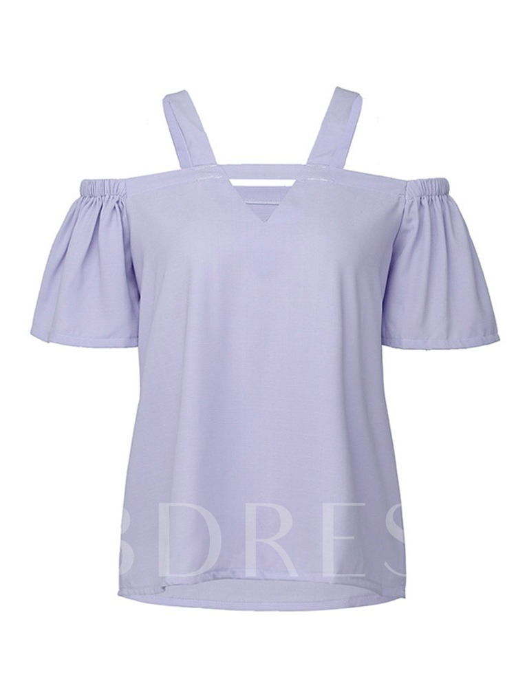 Plain Standard Short Sleeve Summer Women's T-Shirt