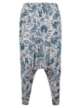 Floral Thin Baggy Pants Print Summer Men's Casual Pants