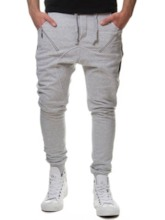 Straight Patchwork Color Block Casual Men's Casual Pants