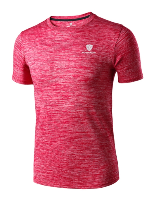 Breathable Round Collar Men's Outdoor Short Sleeve T-shirt