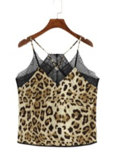 Summer Polyester Spaghetti Straps Print Standard Women's Tank Top